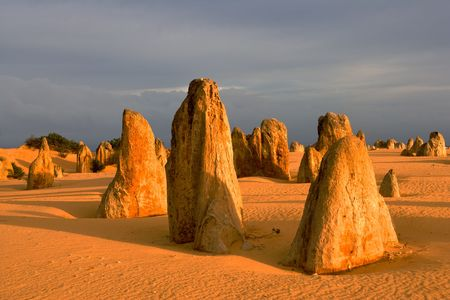 The Pinnacles Desert in the heart of the Nambung National Park, Western Australia.