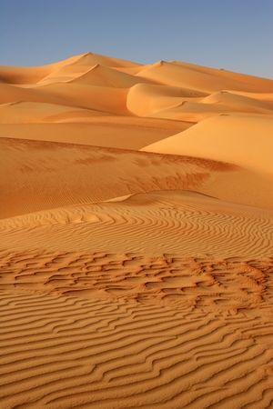 duna: Patrones abstractos en las dunas del Rub al-Jali o barrio de vacío. Omán, Arabia Saudita, los Emiratos Árabes Unidos y Yemen, esto es el desierto de arena más grande del mundo.