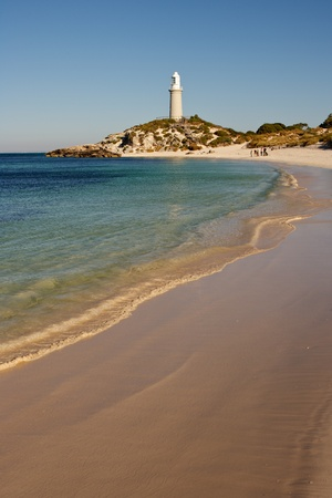 Bathurst Lighthouse – one of two lighthouses on Rottnest Island, Western Australia. Stock Photo