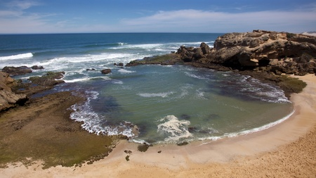 Shelley Bay, a popular tidal pool at Kenton-on-Sea, in South Africa's Eastern Cape. Stock Photo - 8380557