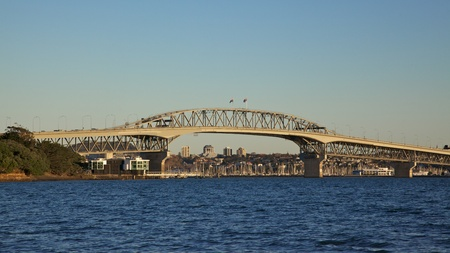 Auckland Harbour Bridge, North Island, New Zealand. photo