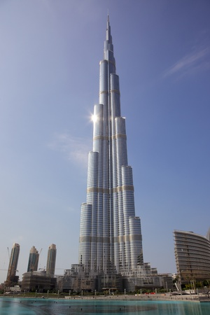 Burj Khalifa, the worlds tallest building, situated in Dubai in the United Arab Emirates.