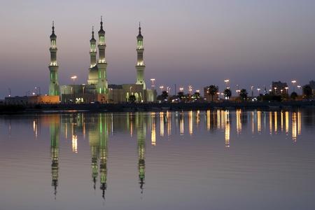 Sheikh Zayed Mosque at sunset, Ras al-Khaimah, United Arab Emirates