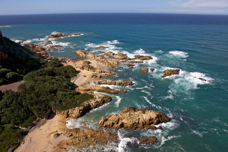 Coney Glen, in the tourist centre of Knysna, situated in South Africa Garden Route. Stock Photo