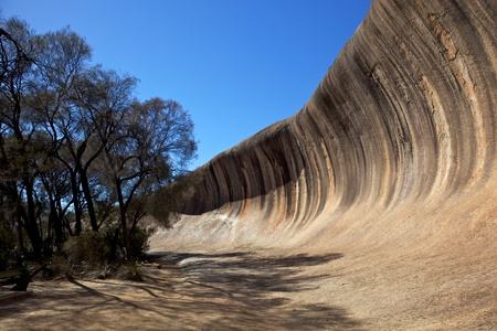 Wave Rock, near Hyden in Western Australia.