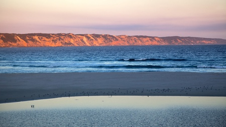 wilson: Wilson Inlet and Ocean Beach at the town of Denmark in Western Australia. Stock Photo