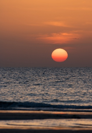 gcc: Gulf sunset at Jumeirah Beach, Dubai, United Arab Emirates,
