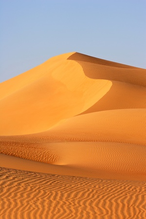 desert scenes: A dune landscape in the Rub al Khali or Empty Quarter. Straddling Oman, Saudi Arabia, the UAE and Yemen, this is the largest sand desert in the world. Stock Photo