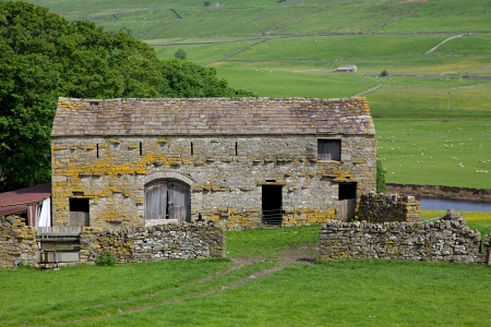 An old stone barn in the heart of England photo