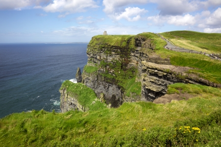 The 214-metre high Cliffs of Moher in County Clare are Ireland