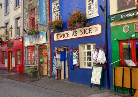 Galway, Ireland, November 26, 2012 - The major tourist attraction of Quay Street in Galway. Stock Photo - 16558461