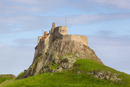 Lindisfarne Castle is a 16th-century castle located on Holy Island, near Berwick-upon-Tweed, Northumberland, England  Editorial