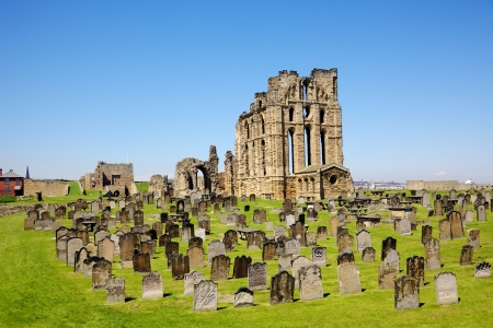 priory: Overlooking the North Sea and the River Tyne, Tynemouth Castle and Priory on the coast of North East England was once one of the largest fortified areas in England