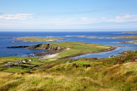 View from the Sky Road, near Clifden in County Galway, Ireland.