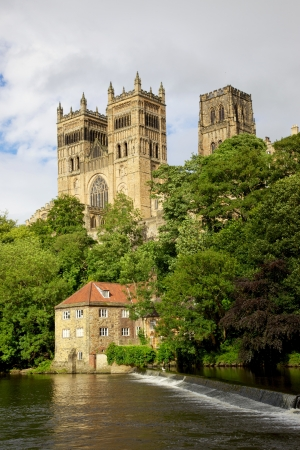 durham: Durham Cathedral and the Old Fulling Mill overlooking the River Wear, County Durham, England Editorial