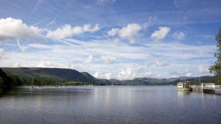 A view of Ullswater from the pier near Pooley Bridge in the English Lake District. Stock Photo - 17160530