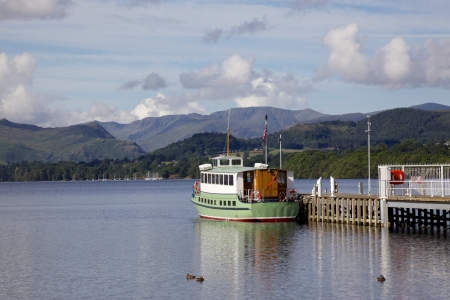 A view of Ullswater from the pier near Pooley Bridge in the English Lake District. Stock Photo - 17160532