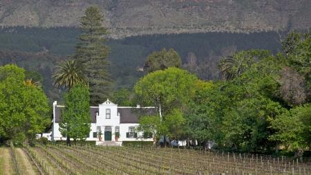 herrenhaus: Buitenverwachting, ein Cape Dutch Herrenhaus im Constantia Valley, S�dafrika, geht zur�ck auf 1773.