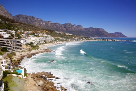 Luxury apartments overlook  Cliftons four glamorous beaches, in Cape Town, South Africa.