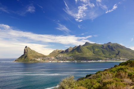 Hout Bay and The Sentinel as seen from Chapman's Peak Drive, Cape Peninsula, South Africa.