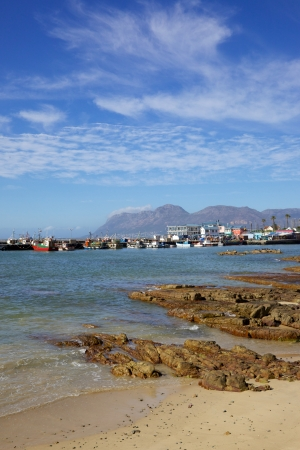 The beach at Kalk Bay Harbour, near Cape Town in South Africa. photo