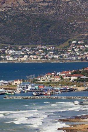 An aerial view of Kalk Bay Harbour, near Cape Town in South Africa photo
