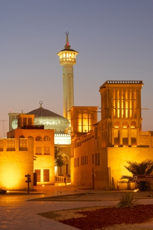 windtower: The old merchant quarter of Bastakiya in Dubai, United Arab Emirates.