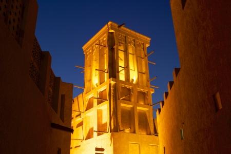 A windtower in the old merchant quarter of Bastakiya in Dubai, United Arab Emirates. Stock Photo - 19145278