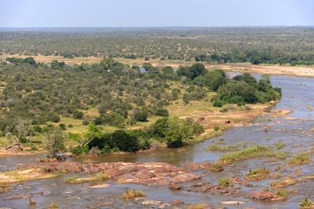 kruger national park: The Olifants River as seen from the Olifants rest camp, Kruger National Park, South Africa