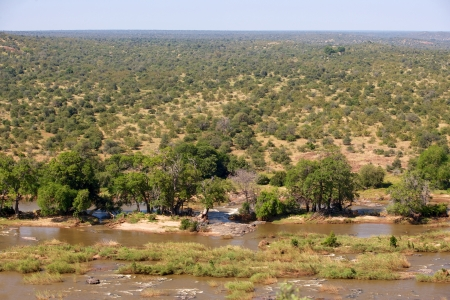 kruger national park: The Olifants River as seen from the Olifants rest camp, Kruger National Park, South Africa