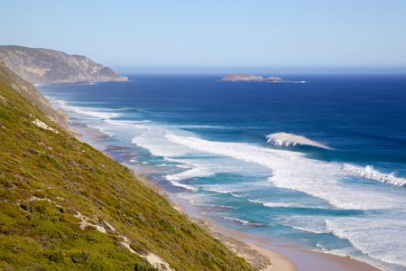 western australia: Coast below Albany Wind Farm, near the town of Albany in Western Australia