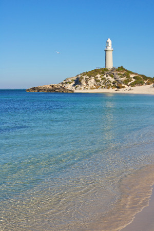 island: Bathurst Lighthouse, one of two lighthouses on Rottnest Island, Western Australia