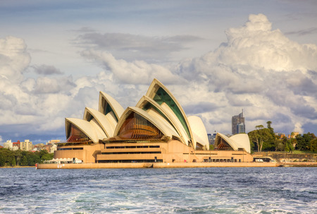 A view of Sydney Opera House from the water  With its interlocking roof or  shells  it is Australia s most recognisable building and a UNESCO World Heritage Site