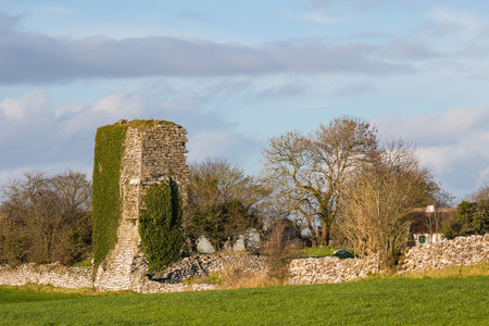 eire: The ruins of Cloughanover Castle are about 2 miles from the village of Headford near the GalwayMayo border in Ireland. The castle was built in 1450 and thought to have been destroyed by Cromwellian forces in the 17th century.