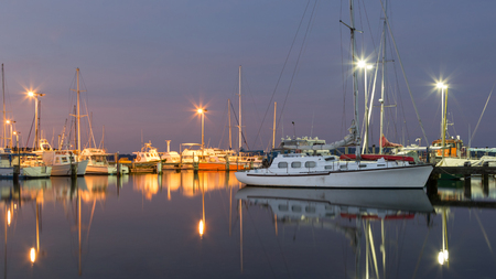 western australia: Twilight time at the marina at Oyster Harbour in Albany, Western Australia.
