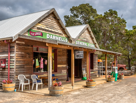 general store: A general store in Rosa Brook, in the Margaret River area of Western Australia, is a reminder of the past. Editorial