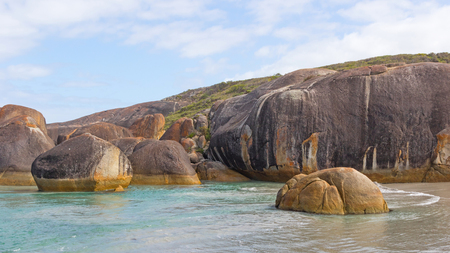 western australia: Elephant Rocks in William Bay National Park, near the town of Denmark in Western Australia. Stock Photo