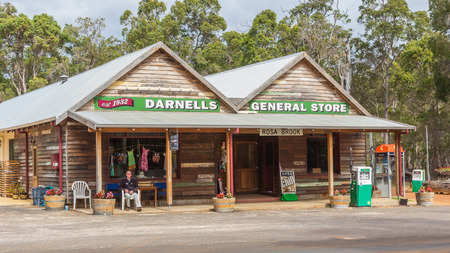 general store: ROSA BROOK, AUSTRALIA - APRIL 5, 2016: A general store in Rosa Brook, in the Margaret River area of Western Australia, is a reminder of the past.