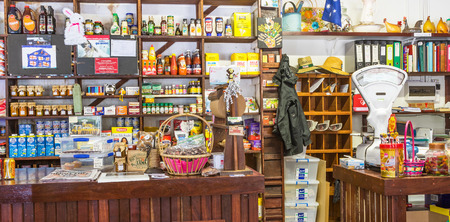 old fashioned: ROSA BROOK, AUSTRALIA - APRIL 5, 2016: The colorful interior of Darnells General Store in Rosa Brook, in the Margaret River area of Western Australia, is a nostalgic and quaint reminder of the past. Editorial