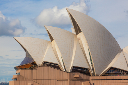 sydney opera house: A detail of the interlocking roof or shells of Sydney Opera House.