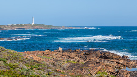 Cape Leeuwin Lighthouse, at the south-western tip of Australia, where two oceans meet.