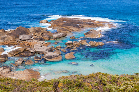 lowlands: An outcrop of rocks near Lowlands Beach, between the towns of Albany and Denmark in Western Australia.