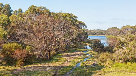 australia landscape: Rural landscape outside Cape Le Grand National Park, near the town of Esperance in Western Australia. Stock Photo