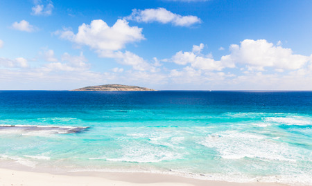 cull: A view of Cull Island off West Beach, in the town of Esperance, Western Australia.