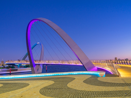 Elizabeth Quay Bridge, an iconic architectural feature of Elizabeth Quay in Perth, Western  Australia, is a 20-metre high suspension bridge open to pedestrians and cyclists.