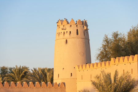 A tower in  the iconic Al Jahli Fort in Al Ain, the largest inland town in the United Arab Emirates.