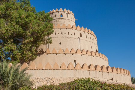 The iconic set of wedding cake towers in Al Jahli Fort in Al Ain, the largest inland town in the United Arab Emirates.