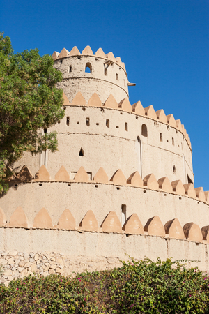 The iconic set of towers in Al Jahli Fort in Al Ain, the largest inland town in the United Arab Emirates.