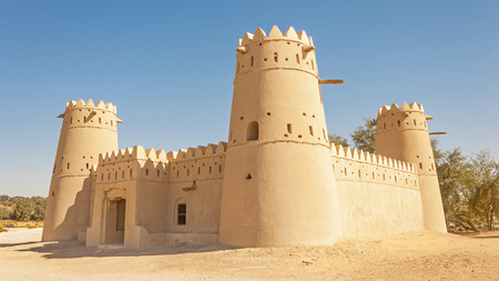 A magnificent fort situated against dunes in the Liwa area of Abu Dhabi in the UAE.