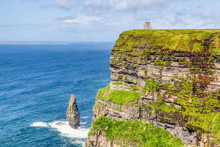 The 214-metre high Cliffs of Moher in County Clare are Ireland's most visited natural attraction.